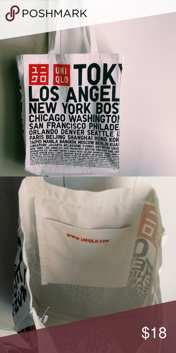 NEW LIMITED EDITION UNIQLO TOTE BAG ACCEPTING OFFERS  High quality sturdy canvas material.  Has a small pocket on the interior Bags Totes