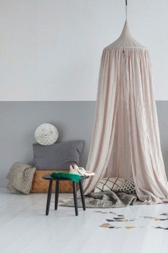NUMERO 74 COTTON CANOPY TENT - POWDER PINK