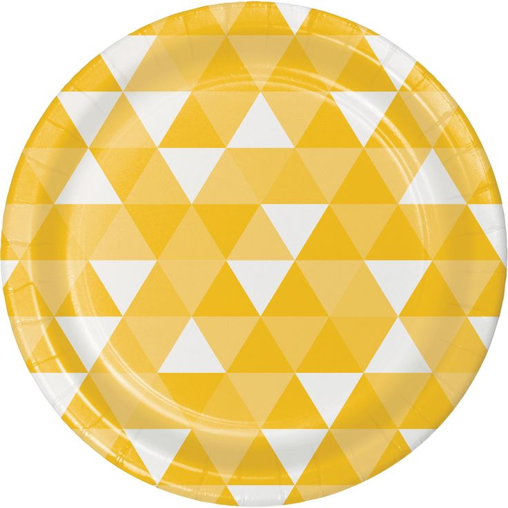Fractal School Bus Yellow Dinner Plate (96/case)
