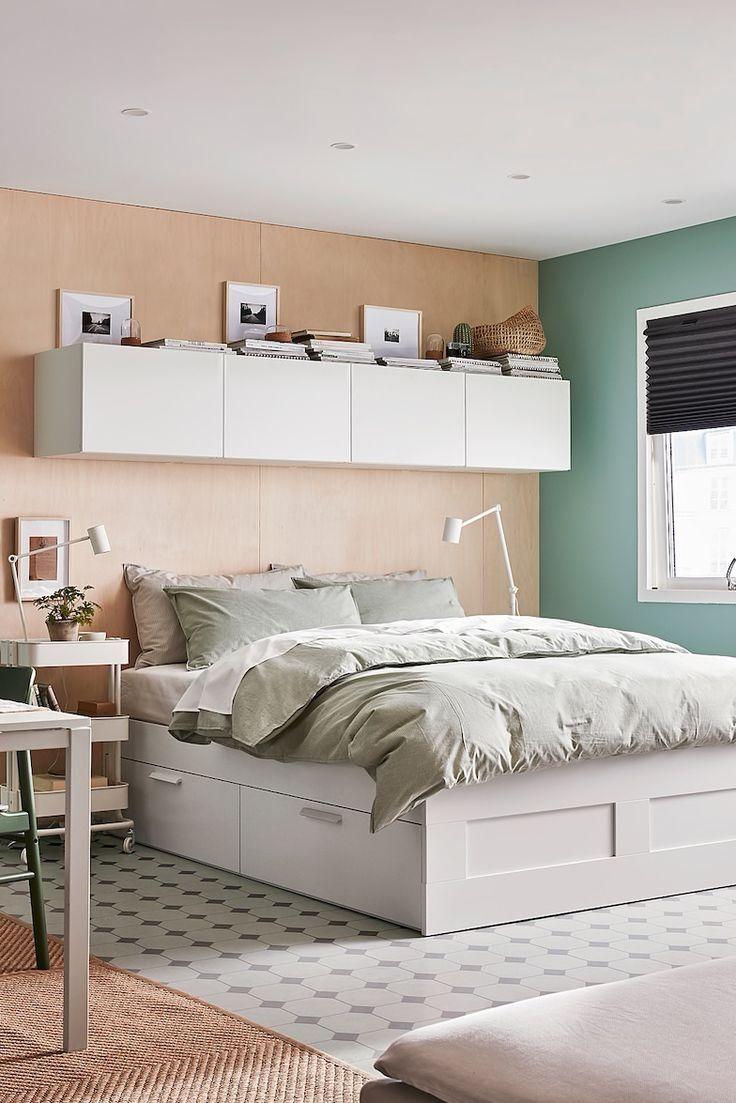 Brimnes Bettgestell Mit Schubladen Weiss Ikea Deutschland In 2020 Zimmer Einrichten Bettgestell Bett Mit Schubladen