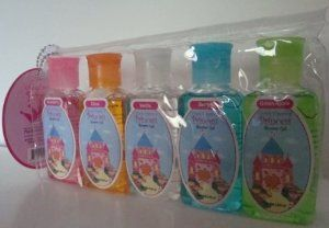 Once Upon a Princess Shower Gel 5pk. Assorted Flavors by The Beauty Group. $4.99. Princess Theme. Handy Reusable Clear Pouch. 5 Beautiful Scents. Let your girl feel pampered with these adorable scented shower Gels. Scents included in this package are Strawberry, Citrus, Vanilla, Berry and Green Apple.