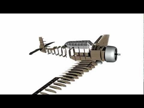 North American AT-6 Texan/Harvard RC Model Plan - YouTube