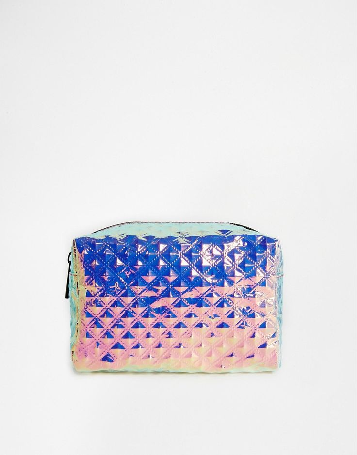 Imagen 1 de Neceser con diseño holográfico y acabado texturizado de ASOS