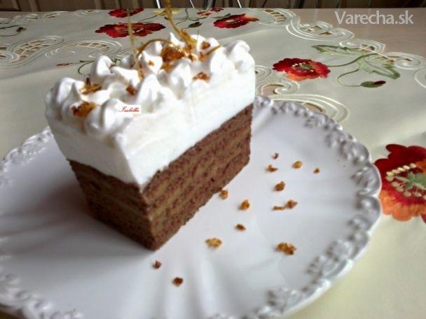 Karamelové rezy s marcipánovým krémom (fotorecept)