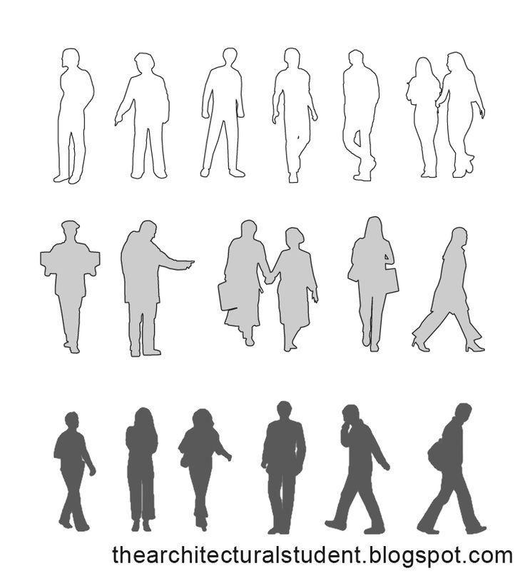Line Art Figures : Best images about human silhouette on pinterest d