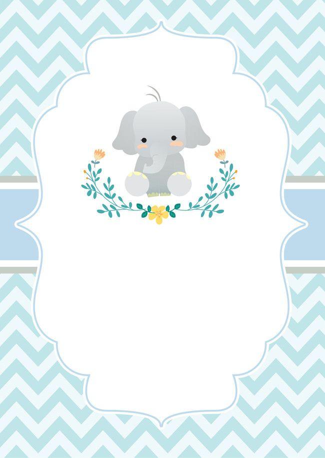 De Para Shower Nino Elefante Distintivos Baby De