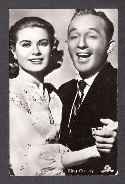 Grace kelly movie star   Grace Kelly and Bing Crosby Movie Film Star Vintage 1950s Postcard ...