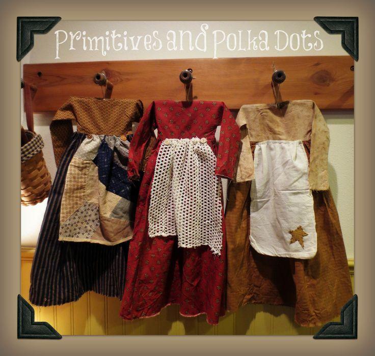 Primitive hanging dresses by Primitives and Polka Dots.