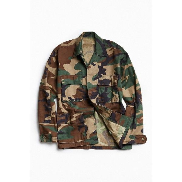 Rothco Camo Field Jacket (185 BRL) ❤ liked on Polyvore featuring men's fashion, men's clothing, men's outerwear, men's jackets, mens cotton jacket, mens military field jacket, mens military jacket, mens cotton field jacket and mens camo jacket