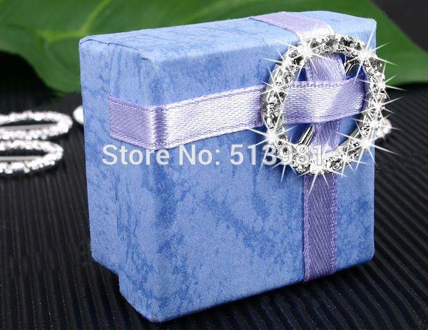 Свадебные принадлежности 10 шт. горный хрусталь пряжки ну вечеринку декор подарочные коробки принадлежности