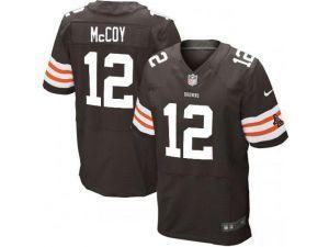 nike nfl elite browns 12 colt mccoy brown team color mens stitched jersey