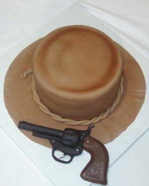 Image detail for -cowboy hat edible gun cake all edible gun and cowboy hat cake