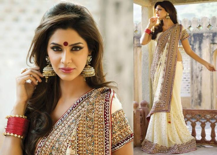 Ravishing White, Red & Gold for the Bride | Wedding Sarees Online, Buy wedding Sarees, Indian Online Shopping