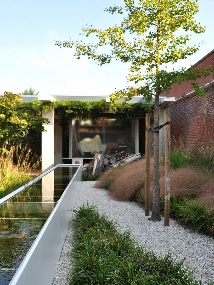 Stefan Morael Tuinarchitekt Brussels Paysagiste Bruxelles Garden Design Zeitgenossischer Garten Gartenbrunnen Garten