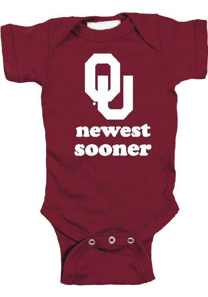 Oklahoma Sooners Cardinal Baby Newest Romper