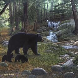 Painted By Michael Matherly, The Early Morning Black Bears Wall Mural From  Murals Your Way Will Add A Distinctive Touch To Any Room. Part 18