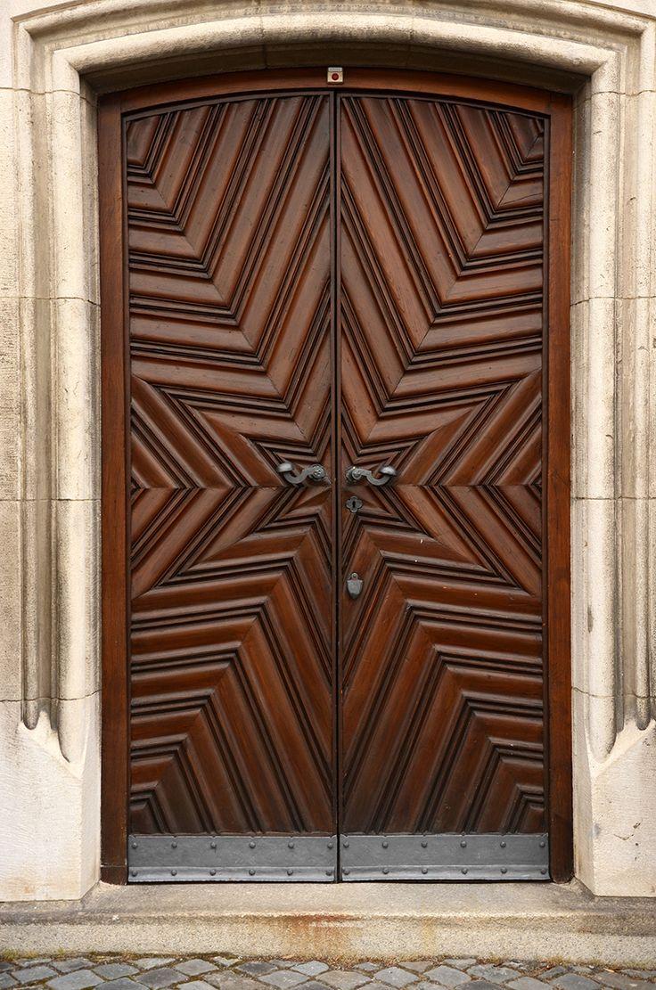 Beautiful star pattern walnut entry door    http://monarchcustomdoors.com/portfolio_post/2053-entry-beautiful-star-pattern-walnut-entry-door/