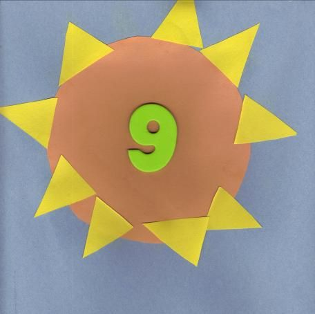 Number 9 craft - count the flames on the sun!