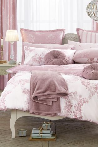 Buy 2 Pack Cotton Rich Dusky Pink Damask Bet Set from the Next UK online shop