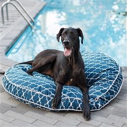 Posh Puppy Boutique is a shop for designer dog clothes and accessories - Pool & Patio Round Dog Bed in Many Colors puppy Beds, Blankets & Furniture - Beds, pet toys, collars, carriers, treats, stunning bowls, diaper, belly bands, id tags, harnesses, appar