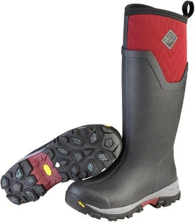Delivering excellent warmth and comfort in a waterproof package, Muck Boot Arctic Ice Tall winter boots have Vibram® Arctic Grip outsoles that help you get out there and wage winter's worst. Available at REI, 100% Satisfaction Guaranteed.