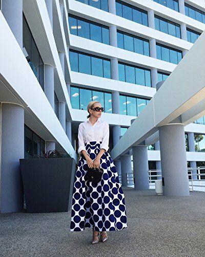 Choies Women's White Contrast Polka skirt #Skirt