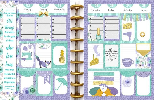 Free Planner Stickers with Daily Chore Check List