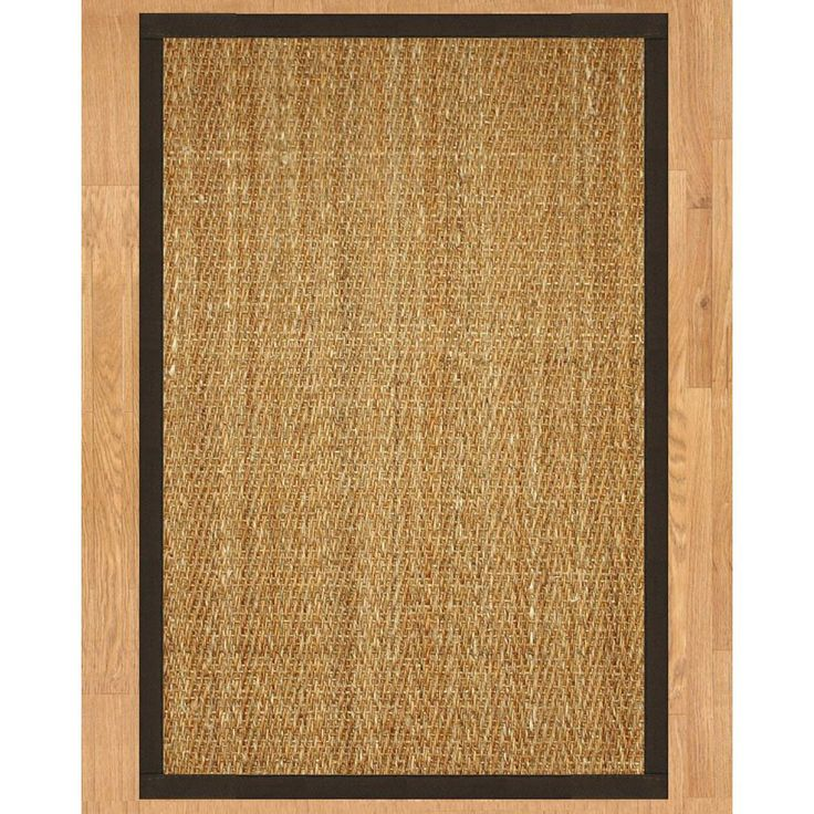 Handcrafted Everest Natural Seagrass Rug Fudge Binding (3' x 5') (3-Feet by 5-Feet), Beige, Size 3' x 5' (Cotton, Solid)