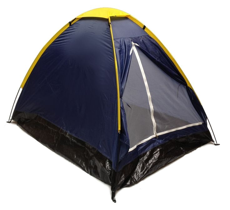 BLUE DOME CAMPING TENT 7x5' - 2 Person, Two Man NAVY ORANGE