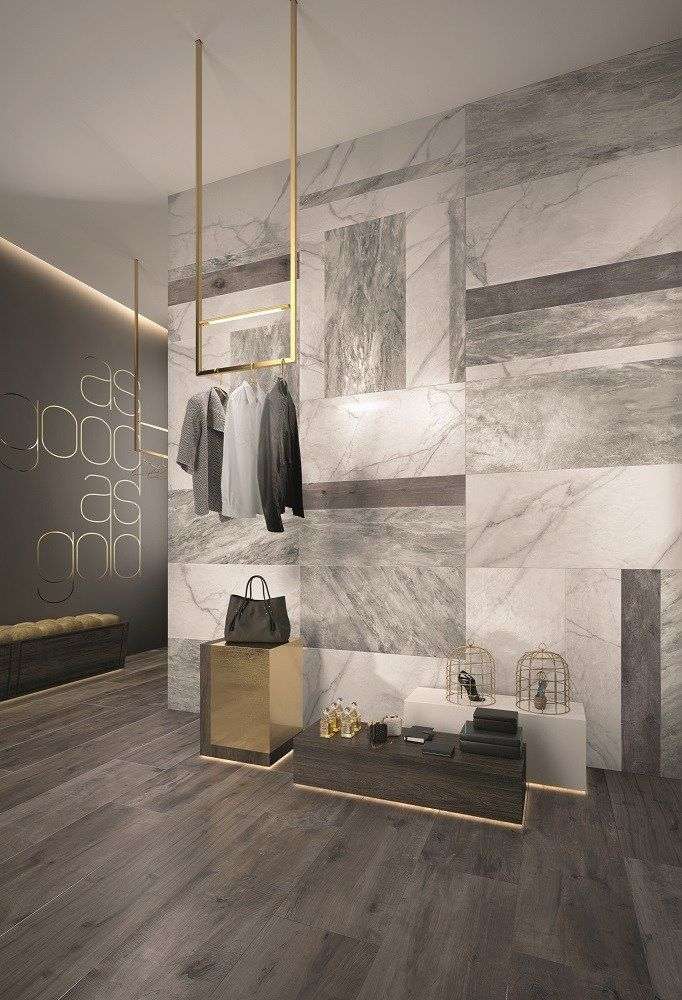Wall/floor tiles with marble effect SUPREME by Flaviker Contemporary Eco Ceramics - works for floors as well...