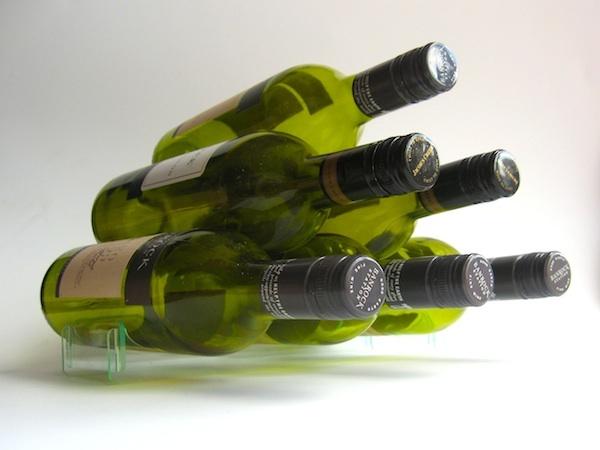 Modern stackable wine rack