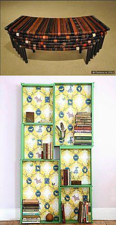 Скамейка из ремней и шкаф из ящиков / Мебель / Модный сайт о стильной переделке…