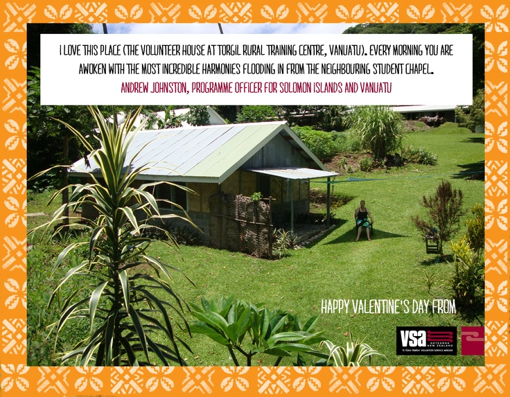 """""""This island is home to what I think maybe the friendliest humans on earth, is dominated by a live, although gentle, volcano and is a magical and relaxing place. The place represents to me all I love about Ni-Vanuatu culture and geography, relaxed subsistence lifestyle on crazy tropical geography. When staying in this house, you are awoken by students singing in the chapel at 6AM every day, waking you in a daze of beautiful harmony. I love this place."""""""