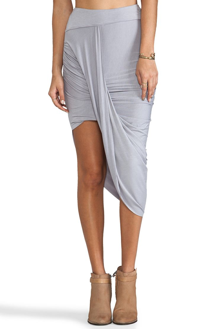 Free People Twist N Shout Skirt in Vapor Blue from REVOLVEclothing