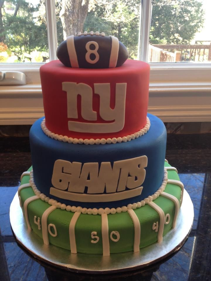 - NY Giants cake for an 8 year old boy's birthday.