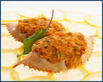 Stuffed soft shelled Crab