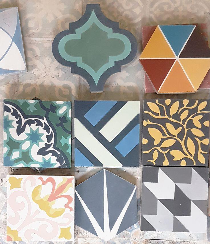 cement tiles samples