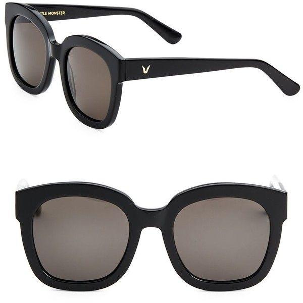 Gentle Monster Matti 50MM Wayfarers Sunglasses (6.605 UYU) ❤ liked on Polyvore featuring accessories, eyewear, sunglasses, lens glasses, wayfarer style glasses, uv protection glasses, wayfarer sunglasses and wayfarer style sunglasses