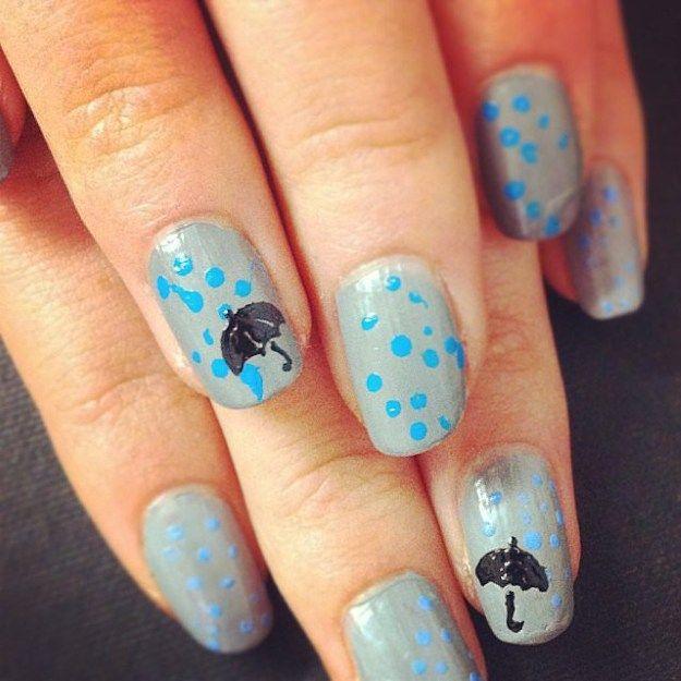 Rainy Day 2015 Spring Nails | DIY Nails by Makeup Tutorials at http://www.makeuptutorials.com/nail-designs-spring-nail-art