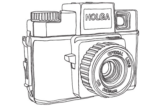 D Line Drawings Ikea : Holga rod hunting lomography illustrations