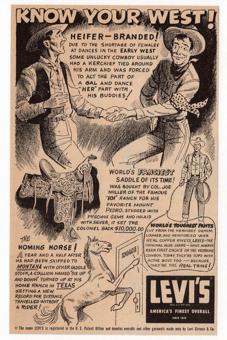 Levi's AD, 1954