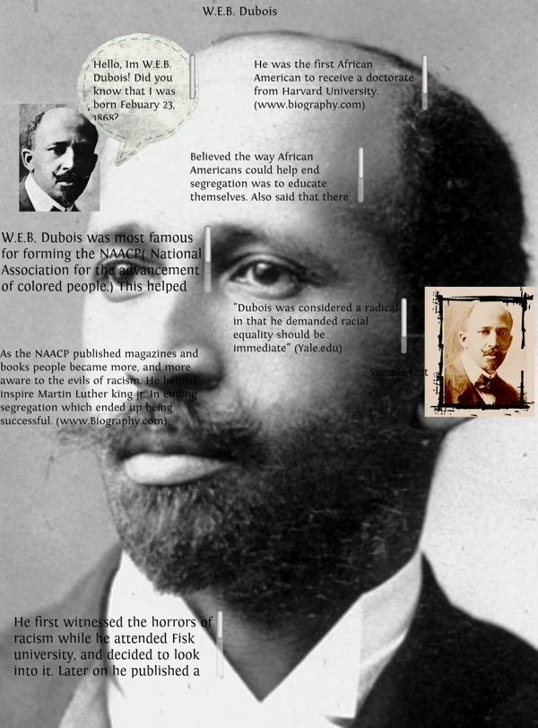 a history of civil rights of americans and ideas of web dubois However, if i had to choose one, it would be web du bois' push to address  black  would african americans in the us fare better today if the civil rights   centered around the idea that blacks were better off creating economic  opportunity for  black american history: what was the philosophical  disagreement between.