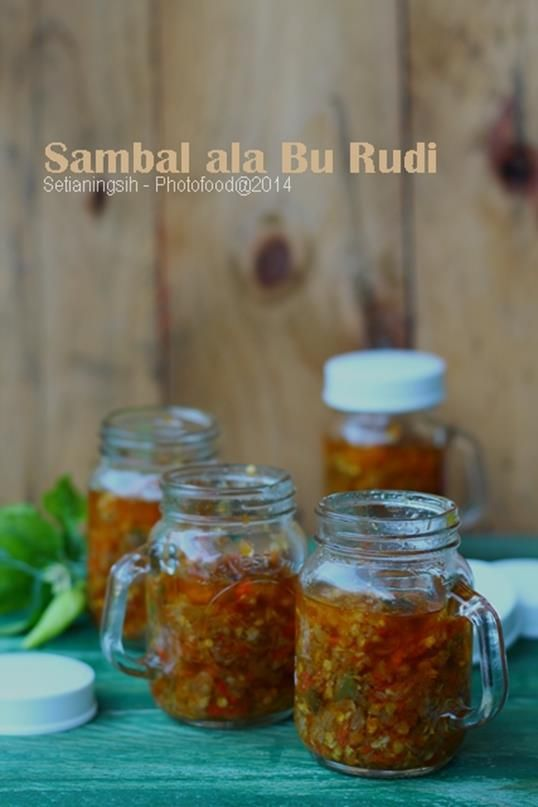 Hot chilly sauce from Indonesia