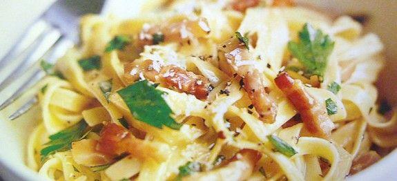 Tagliatelles aux légumes et lardons - Recettes Cookeo