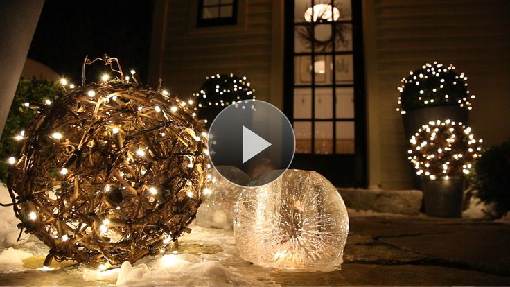 A strand of Christmas lights is so last year. Bet you've never considered these four ways to add sparkle to your holiday display (Hint: Minimal extension chords required)./