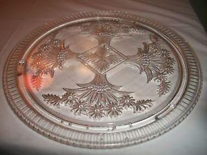 Clear Depression Glass Cake Plates | Vintage Depression Glass Cake Plate Clear Footed 11in | eBay & 160 best Cake Plates images on Pinterest | Cake plates Vintage ...