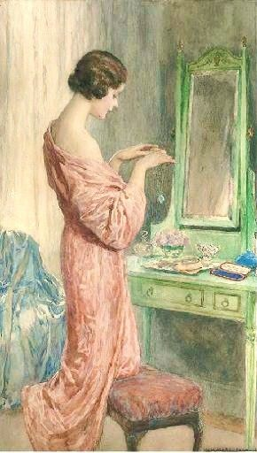 The Precious Gift, watercolor by William Henry Margetson (1861-1940)