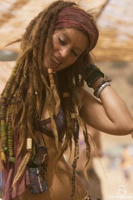 white girl dreads