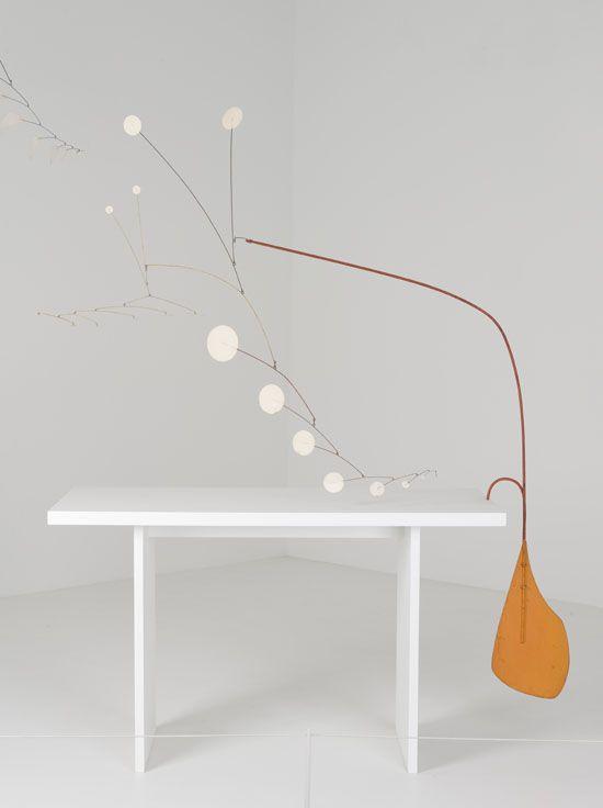 Alexander Calder – Orange Paddle under the Table, 1949
