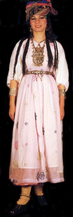 A traditional bridal costume from the region of Şırnak (East-Anatolia).  Kurdish, mid-20th century.